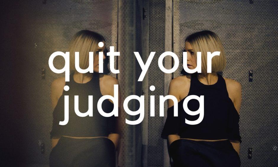 Quit Judging blog header